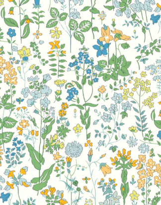 Field Flowers C - Organic - Liberty Tana Lawn - Ava & Neve